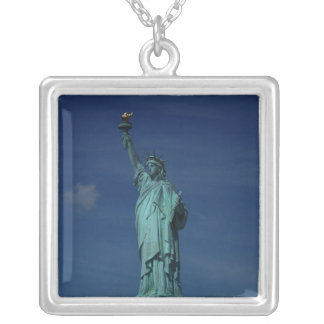 Liberty Enlightening the World - Statue of Liberty Square Pendant Necklace