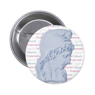 Liberty Equality Fraternity Bastille Day Button