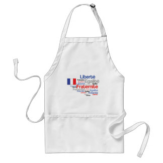 Liberty Equality Fraternity French Bastille Day Adult Apron