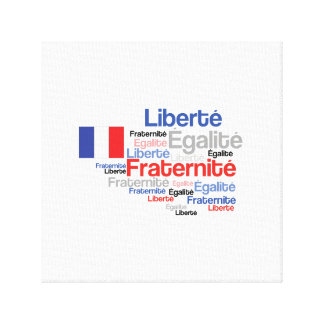 Liberty Equality Fraternity French Bastille Day Gallery Wrapped Canvas