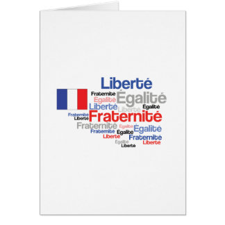 Liberty Equality Fraternity French Bastille Day Card