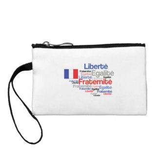 Liberty Equality Fraternity French Bastille Day Change Purse