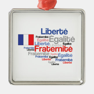 Liberty Equality Fraternity French Bastille Day Metal Ornament