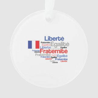 Liberty Equality Fraternity French Bastille Day Ornament