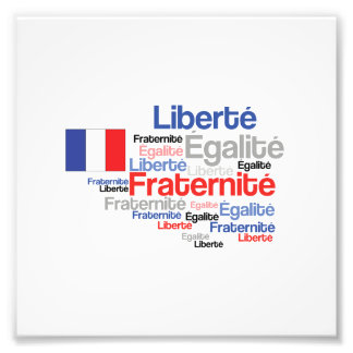 Liberty Equality Fraternity French Bastille Day Photograph