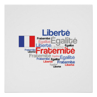 Liberty Equality Fraternity French Bastille Day Posters