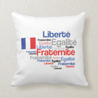 Liberty Equality Fraternity French Bastille Day Throw Pillow