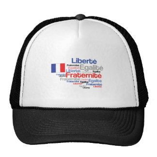 Liberty Equality Fraternity French Bastille Day Trucker Hat
