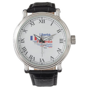 french flag wrist watches zazzle Spain Flag liberty equality fraternity french bastille day wrist watch