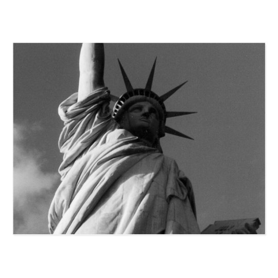 liberty face black & white postcard