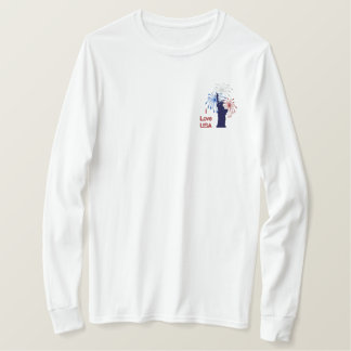 Liberty Fireworks - Customize Embroidered Long Sleeve T-Shirt