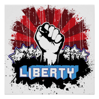 Liberty Fist Poster