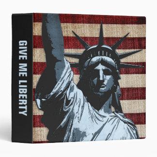 Liberty Flag 3 Ring Binder