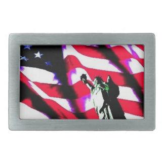 """Liberty Flag"" on a Belt Buckle"