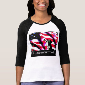 Liberty Flag painting on a Ladies Shirt