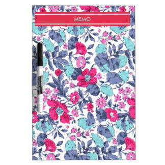 Liberty flower personnalisable first name dry erase board