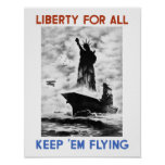 Liberty For All -- World War Two Poster