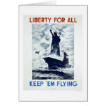 Liberty For All WWII 1942 WPA Card