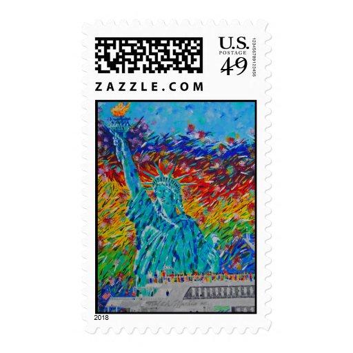 Liberty Freedom Postage Stamp
