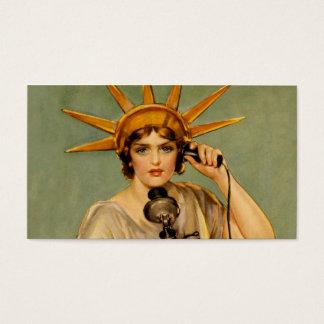 "Liberty Girl ""Call Me"" Business Card"