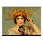 """Liberty Girl - """"Call Me"""" Post Card"""
