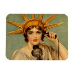 """Liberty Girl """"Call Me"""" Rectangle Magnets"""