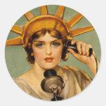 "Liberty Girl - ""Call Me"" Sticker"