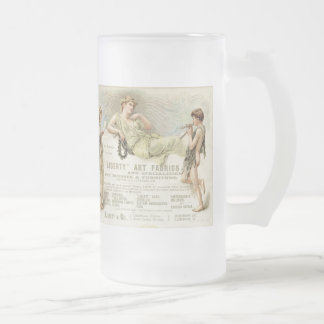 Liberty Gondoliers Frosted Glass Beer Mug