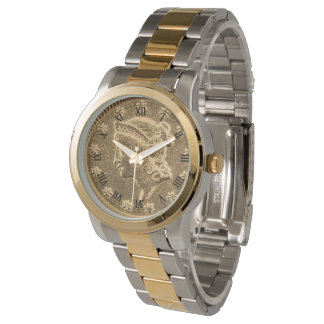 Liberty Head Coin 1853 - Two Toned Bracelet Wristwatch