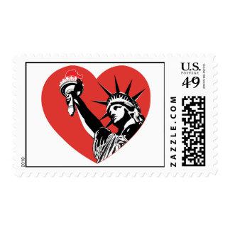 Liberty Heart Postage Stamp