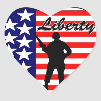 Liberty! Heart Stickers