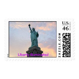 Liberty Illumnated Postage Stamps