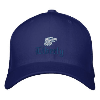 Liberty in Blue Embroidered Baseball Cap