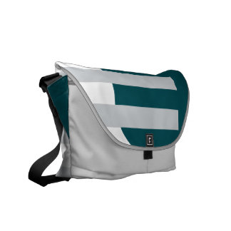 Liberty in Green and Gray Messenger Bag