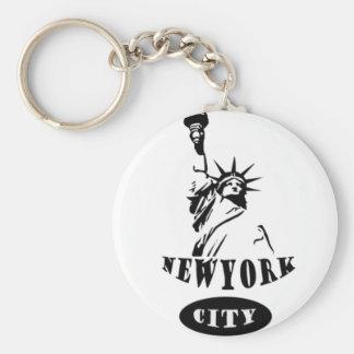Liberty In new york city Keychain