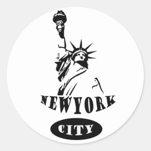 Liberty In new york city Round Stickers
