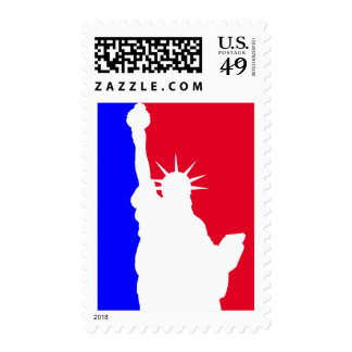 Liberty in Red, White and Blue Postage Stamps