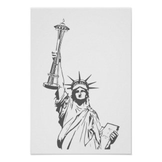Liberty in Seattle Poster