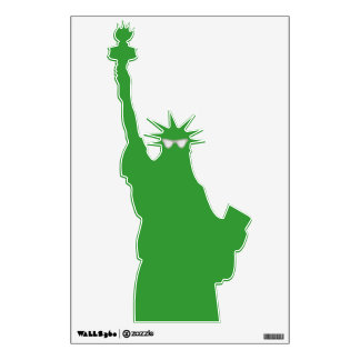 Liberty is a Hip Hip Lady Wall Sticker