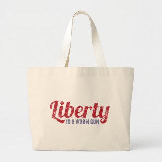 Liberty is a Warm Gun Canvas Bags