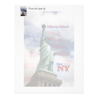 Liberty Island - New York, NY Letterhead
