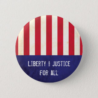 Liberty & Justice American Flag Political Pinback Button