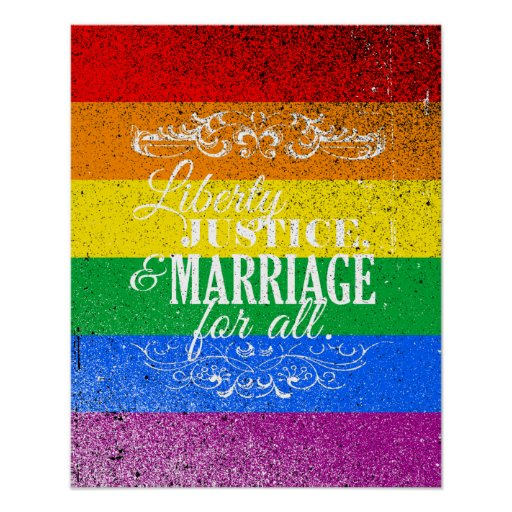 LIBERTY JUSTICE AND MARRIAGE FOR ALL -.png Print