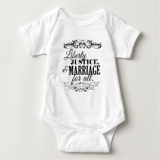 LIBERTY JUSTICE AND MARRIAGE FOR ALL -.png Infant Creeper