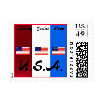 Liberty, Justice, Hope Postage
