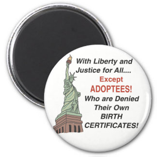 Liberty & Justice Refrigerator Magnet