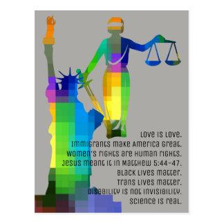 Liberty & Justice Postcard