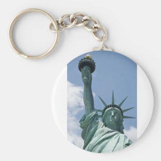 Liberty Basic Round Button Keychain