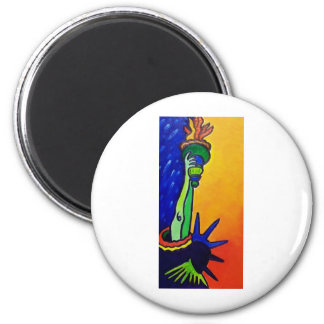 Liberty Lady 2 Inch Round Magnet