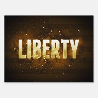 Liberty Lawn Sign